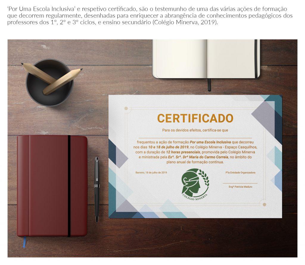 Certificado Por Uma Escola Inclusiva
